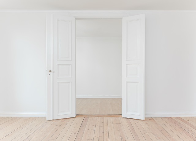 דלת פנים כפולה בצבע לבן